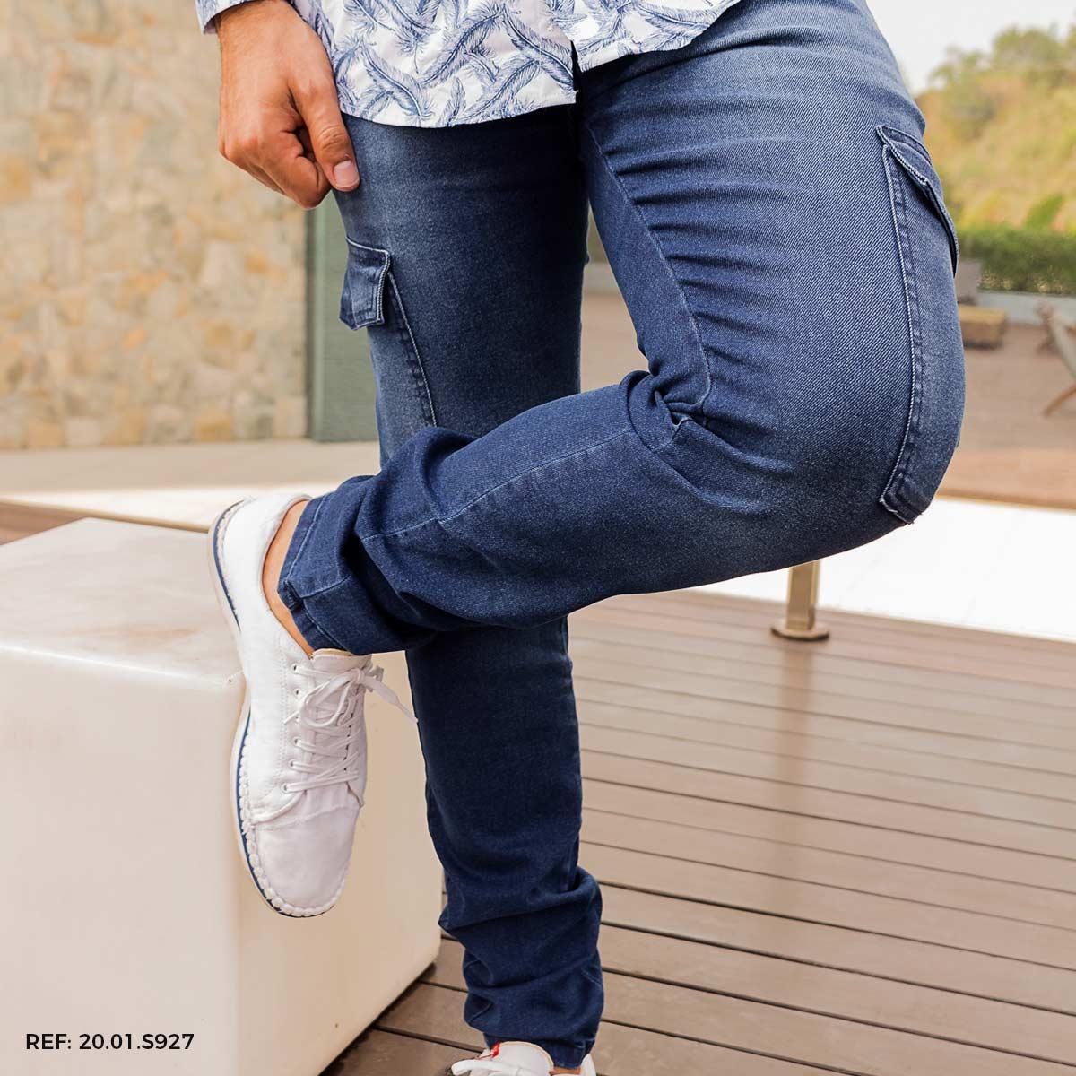 Calça masculina sport fino utilitária