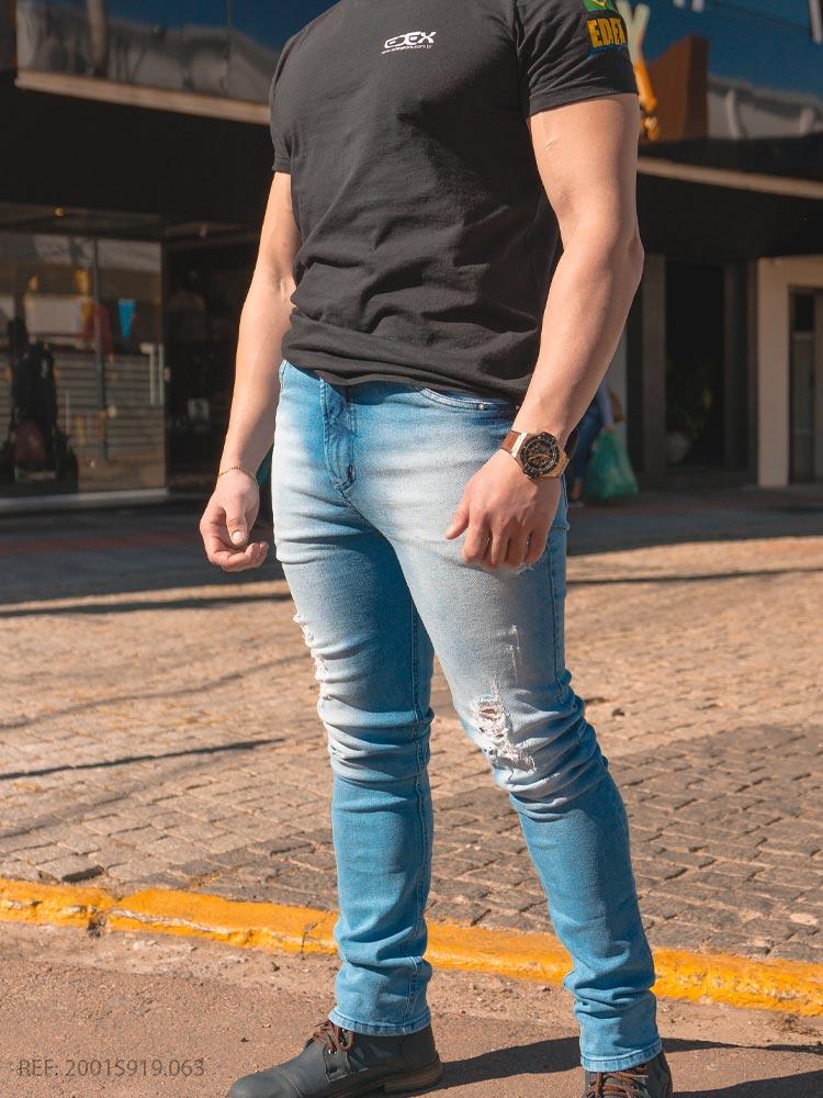 Calca masculina super skinny