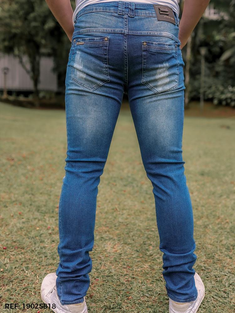 Calça masculina super skinny