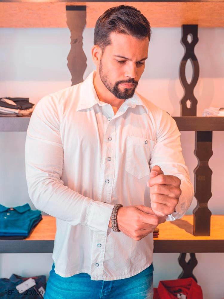Camisa masculina manga longa