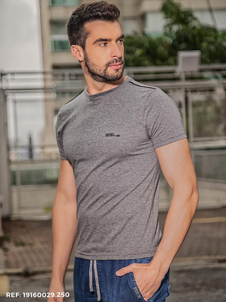Camiseta Masculina Manga Curta Gola O
