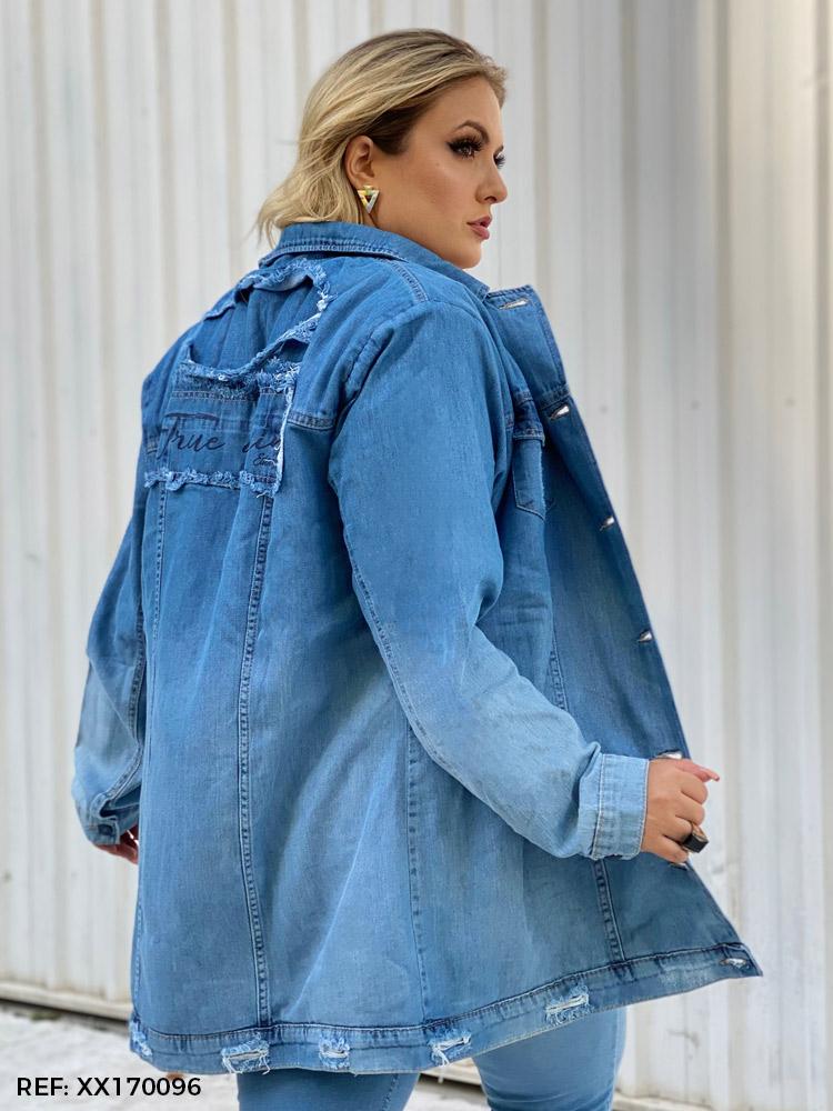 Jaqueta feminina over com pelo