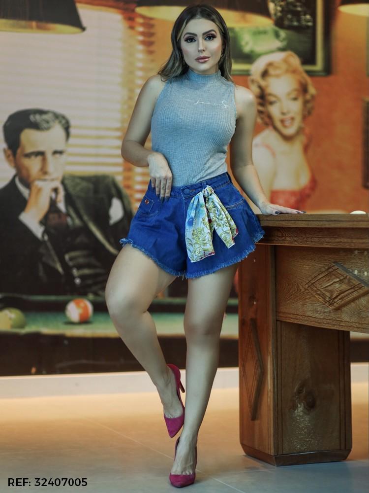 Shorts feminino babaloo lenço