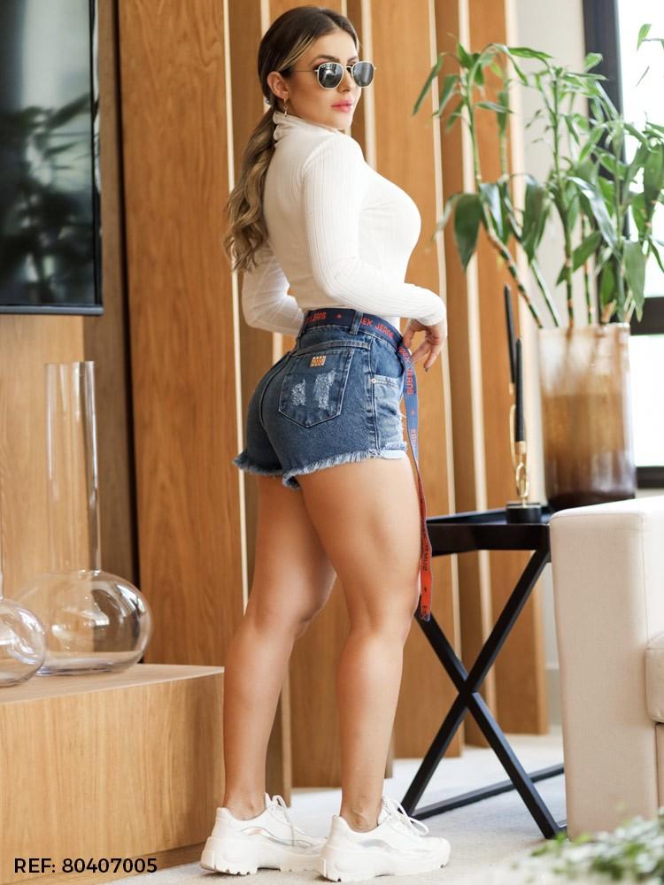 Shorts feminino cinto