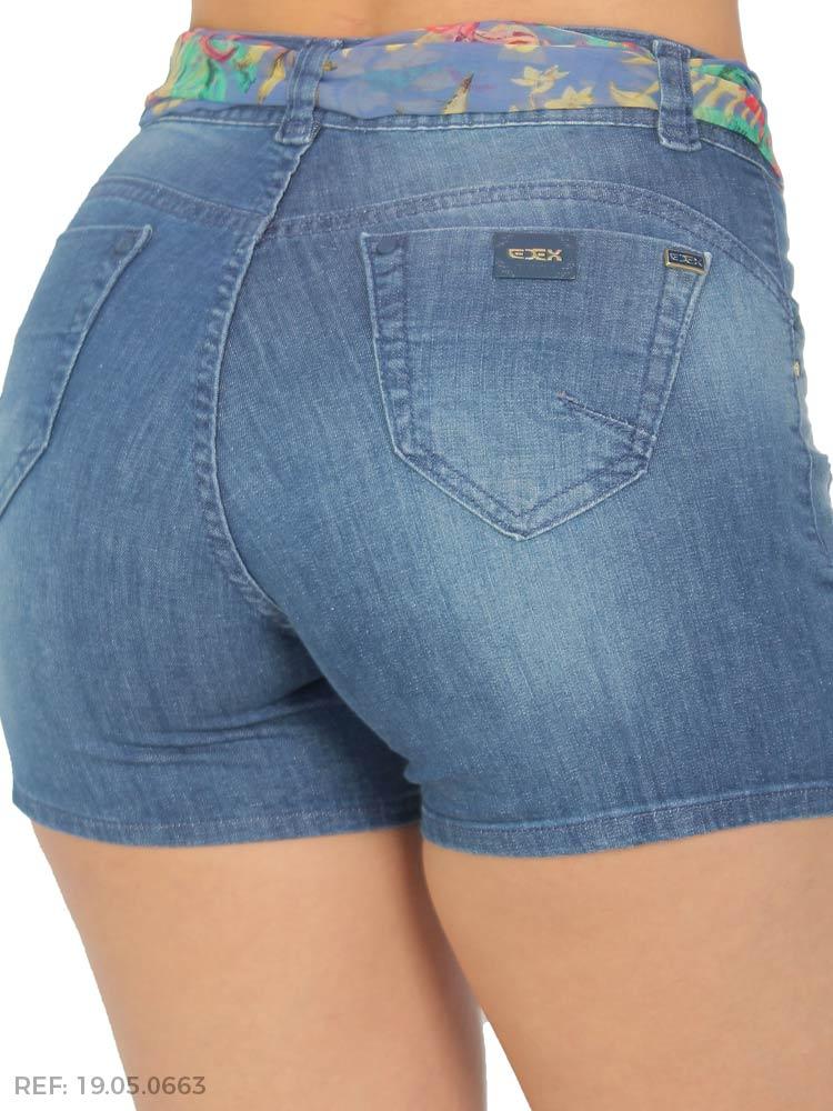 Shorts feminino gisele cinto