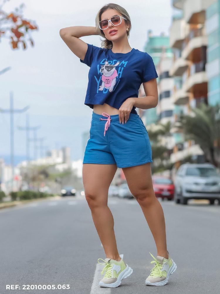 Shorts Feminino Jogging Moletom