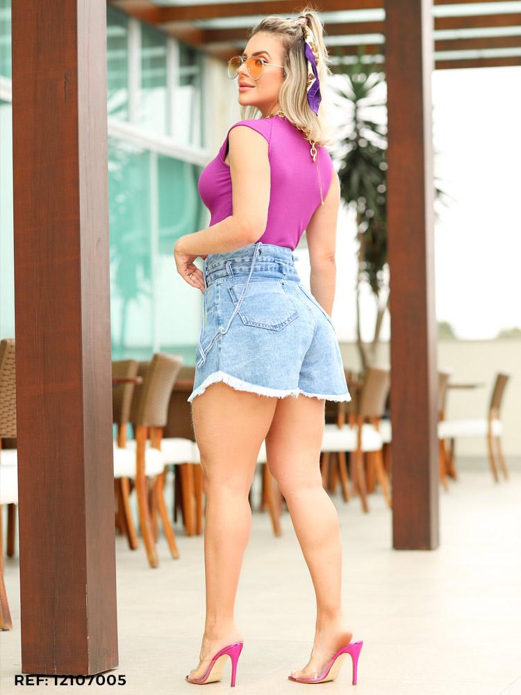 Shorts feminino juliana suspensório