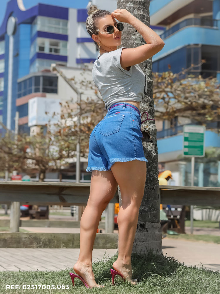 Shorts Feminino Slouchy Cordão