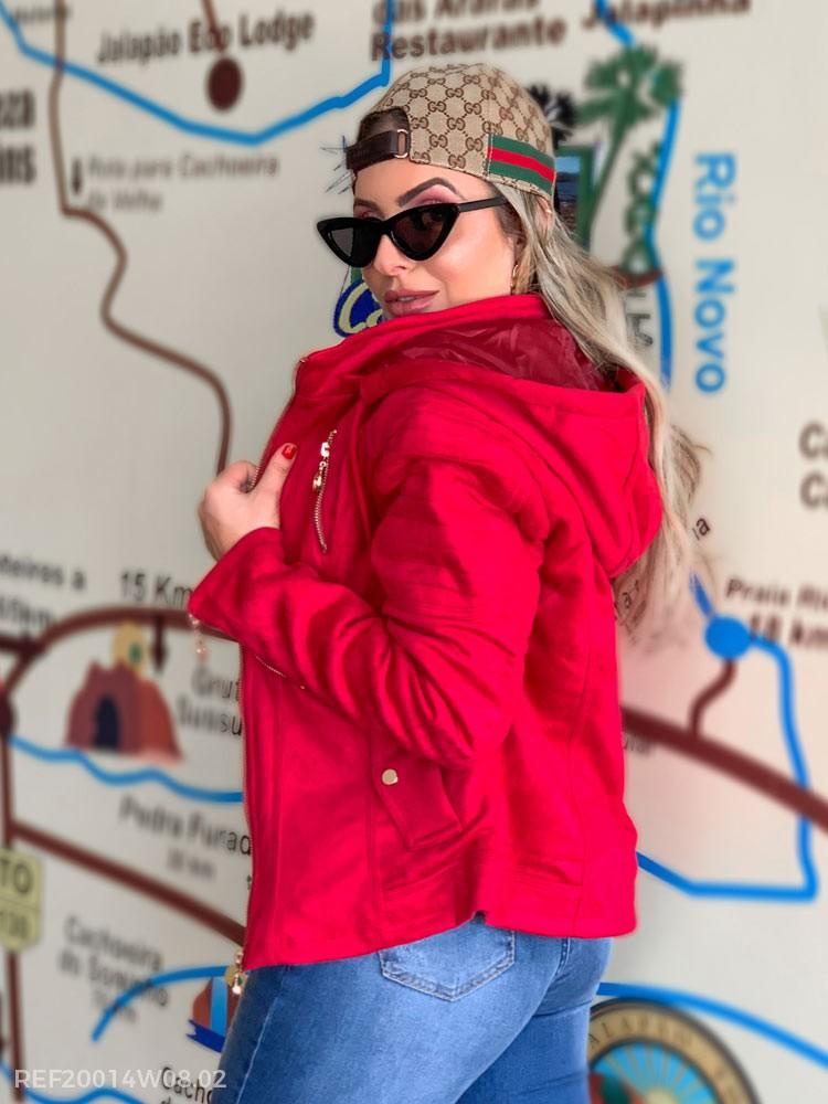 T. jaqueta feminina camurca