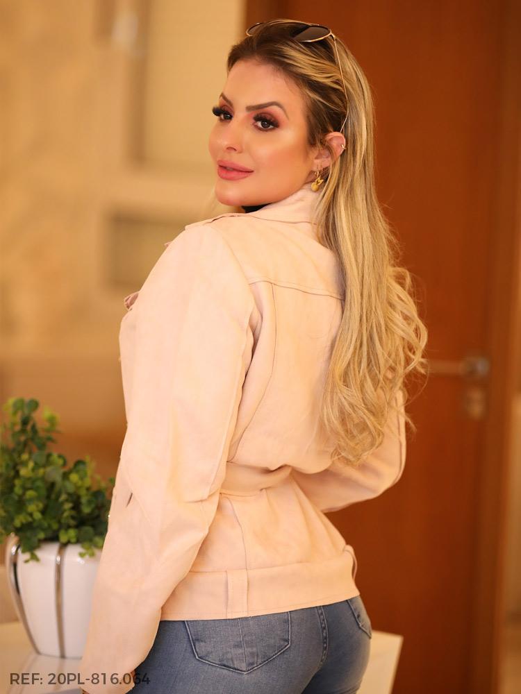 T. jaqueta feminina camurça