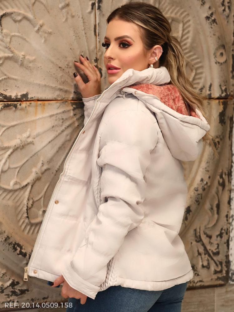 T. jaqueta feminina forrada
