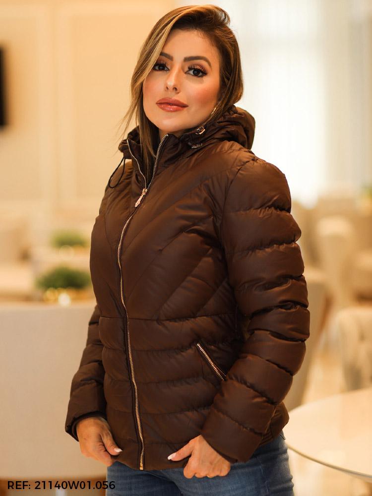 T. jaqueta feminina nylon forrada
