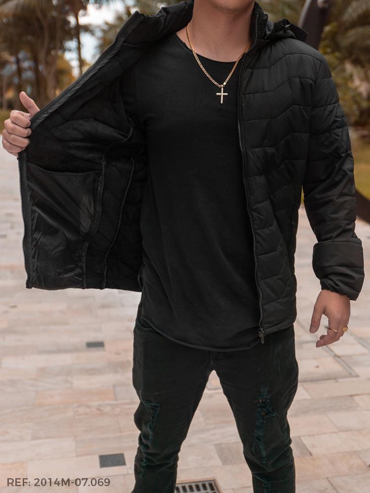 T. jaqueta masculina nylon forrada