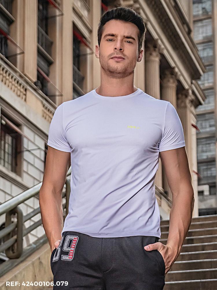 T-shirt masculina slim  MC DRY UV40+
