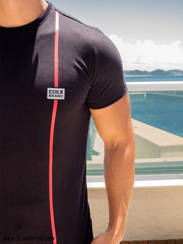 T-shirt masculina slim mc soft touch