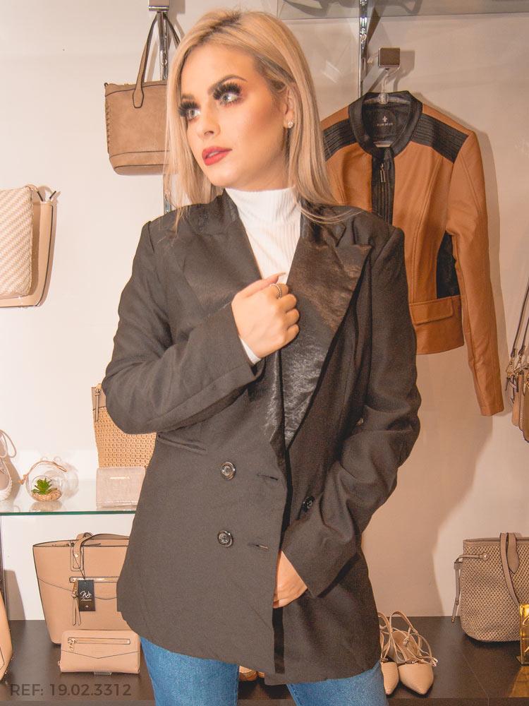 Terc. blazer feminino alongado