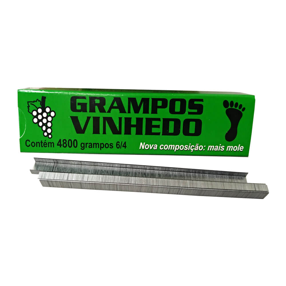 5 Caixas De Grampo 6/4 + 100 Rolo De Fita Plastica para Alceador