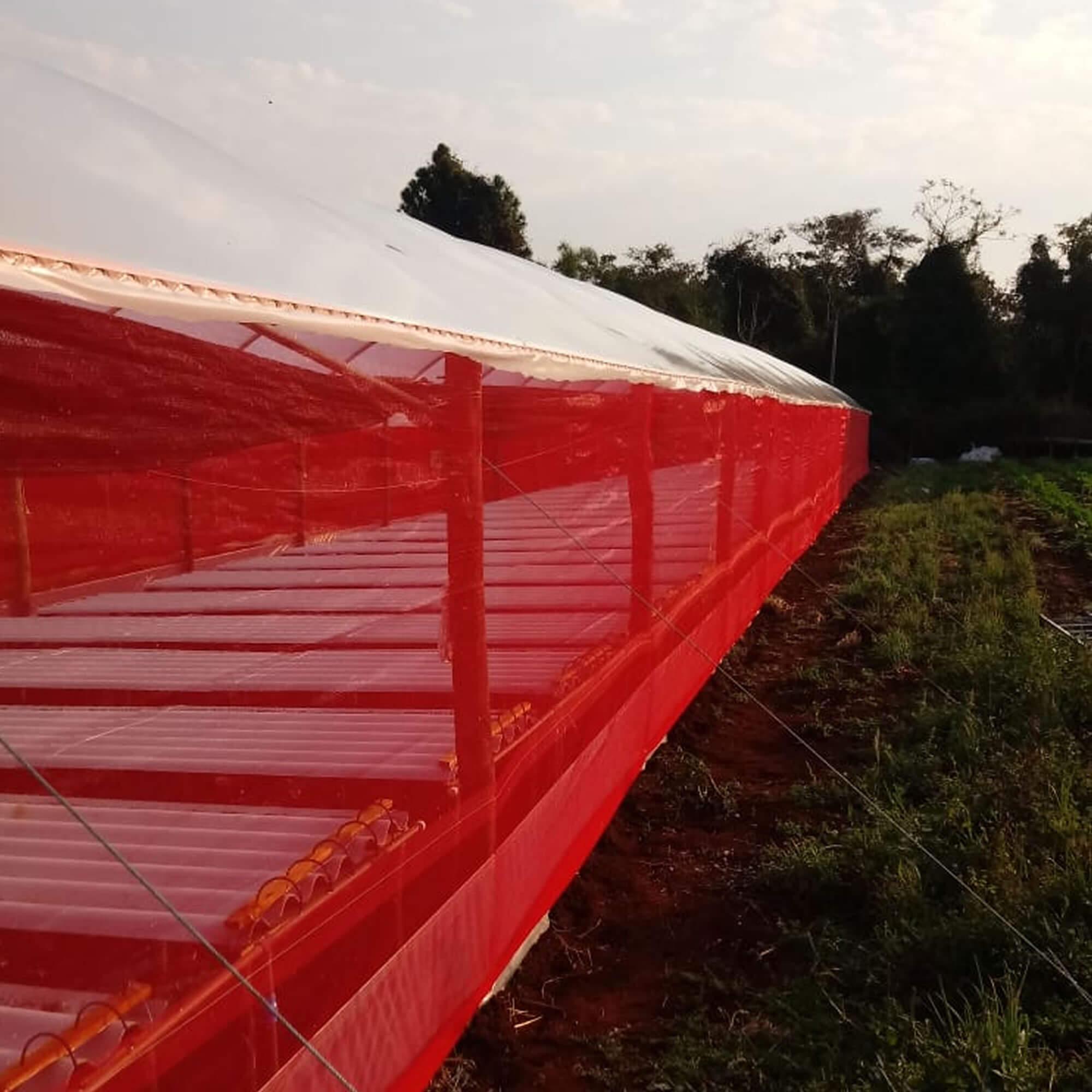 Tela de Sombreamento Vermelha 20% - 3 x 30 metros