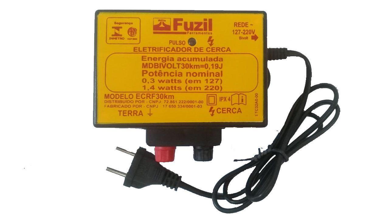 Eletrificador Cerca 30km Bivolt - Fuzil