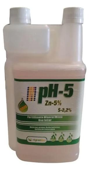 pH-5 Zn - Adjuvante redutor de pH - 1 Litro