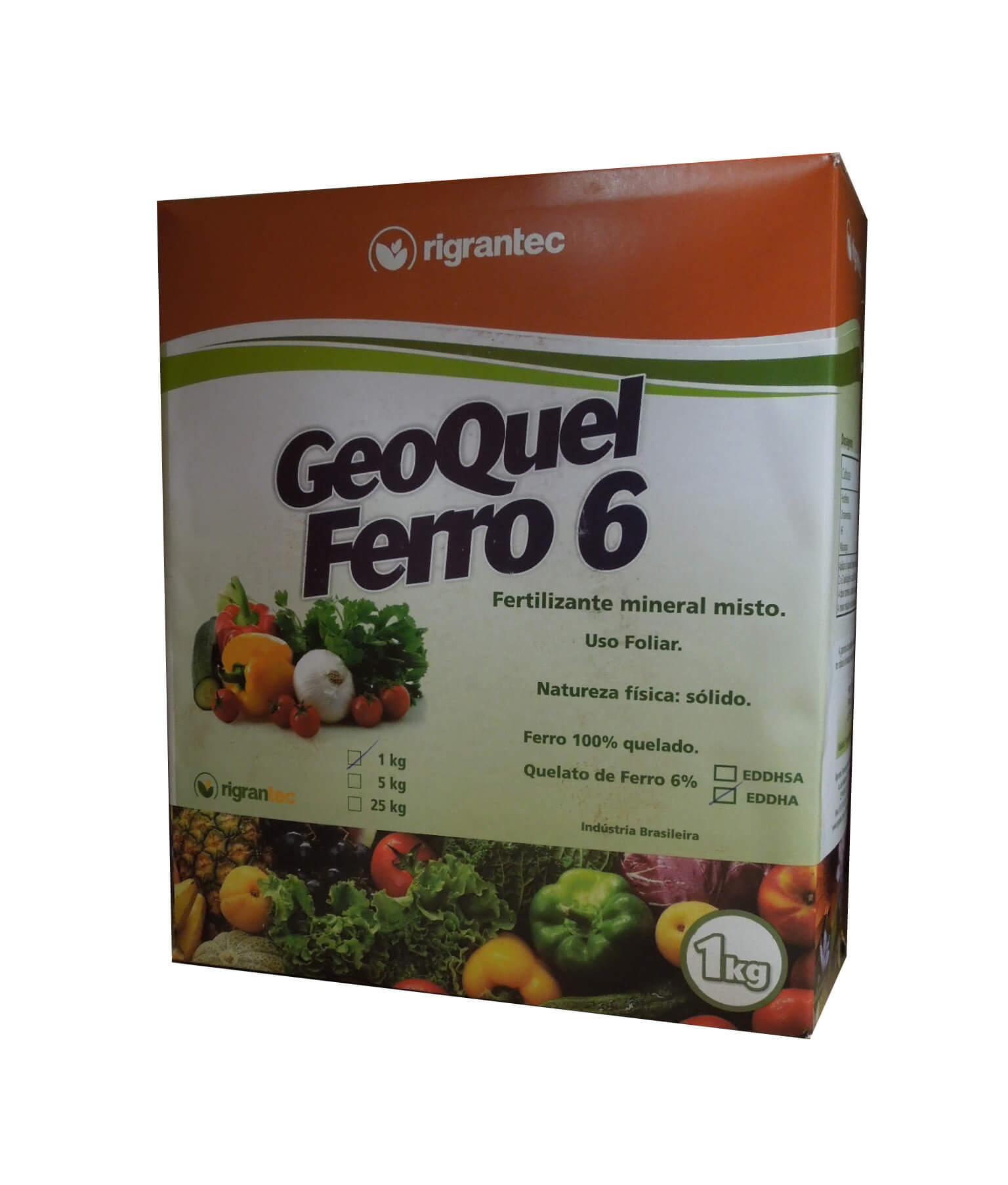 Geoquel Ferro 6 EDDHA - Ferro Quelatizado - 1 kg