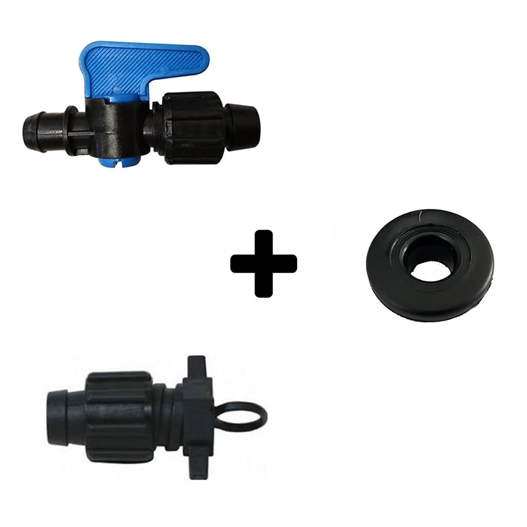 Kit Completo Conexões Para Irrigação Gotejamento - 25 unidades