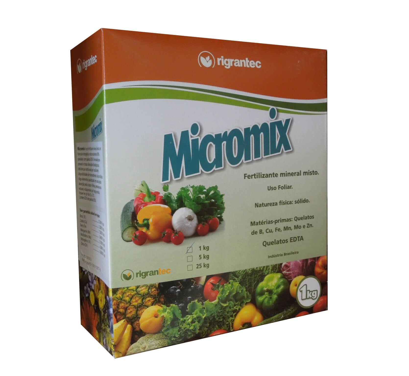 MICROMIX - Micronutrientes Quelatizados - 1 Kg
