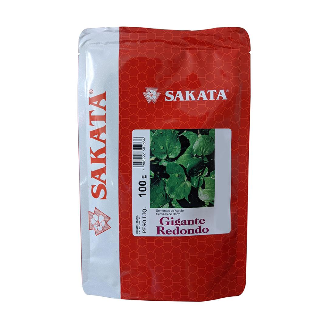 Sementes De Agrião Gigante Redondo - 100 Gramas - Sakata