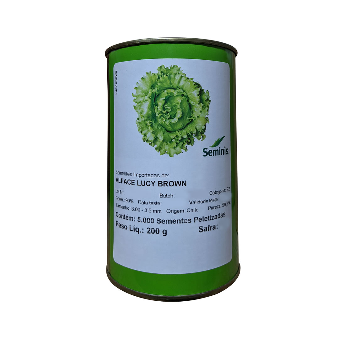 Sementes De Alface Lucy Brown - 5.000 sementes - Seminis