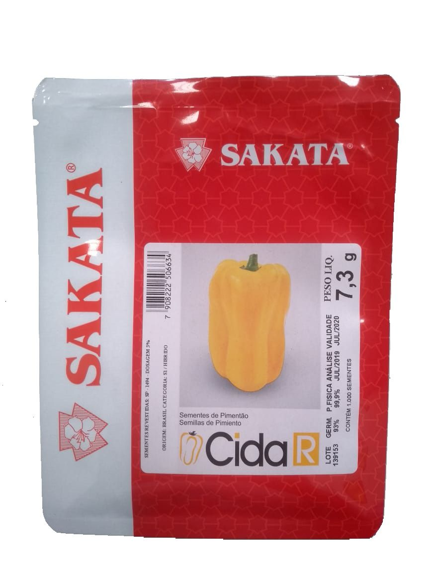 Sementes De Pimentão Cida R - 1.000 Sementes - Sakata