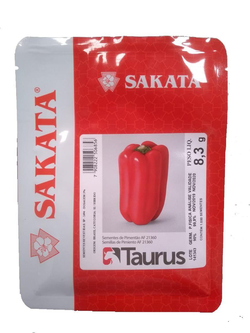 Sementes De Pimentão Taurus - 1.000 Sementes - Sakata