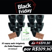 BLACK FRIDAY - VASO AUTO IRRIGAVEL LINHA TEMPERO KIT 10 UNIDADES