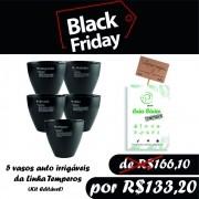 BLACK FRIDAY - VASO AUTO IRRIGAVEL LINHA TEMPERO KIT 5 UNIDADES