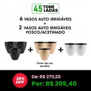 COMBO 2 - 6 VASOS AUTO IRRIGÁVEIS. → GANHE 2 AUTO IRRIGÁVEL FOSCO/ACETINADO ← 45 TONELADAS