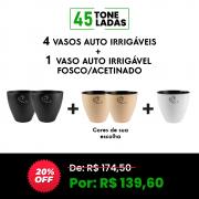 COMBO 3 - 4 VASOS AUTO IRRIGÁVEIS. → GANHE 1 AUTO IRRIGÁVEL FOSCO/ACETINADO ← 45 TONELADAS