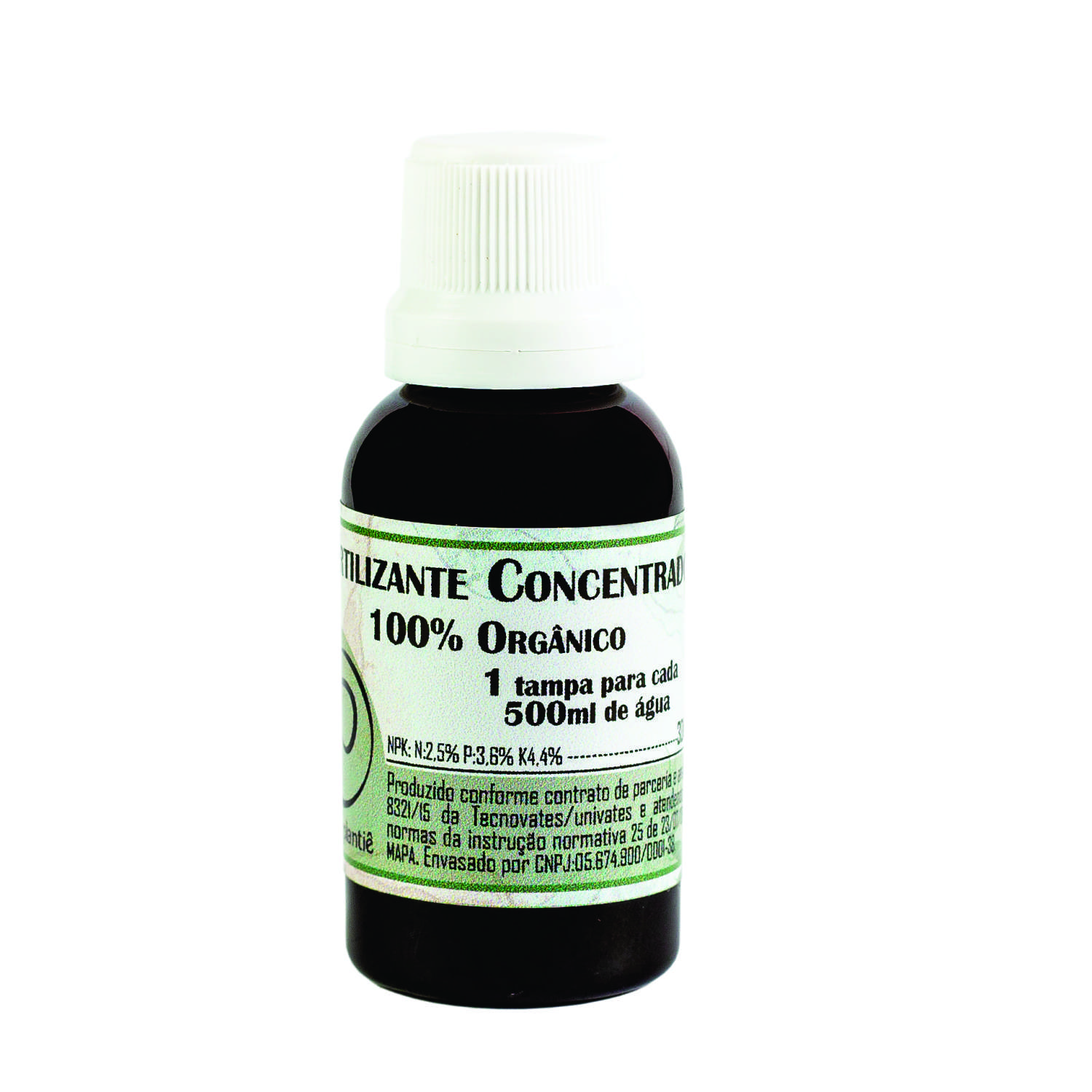 FERTILIZANTE CONCENTRADO 100% ORGÂNICO - 30ml.