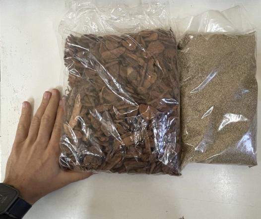 PREPARO PARA SUBSTRATO DRENADO - 5  a 8 VASOS AUTO IRRIGÁVEIS - Vermiculita e Casca de Pinus média