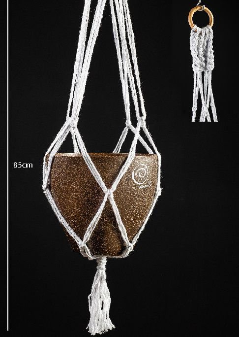 Suporte Macramê - Branco - 85cm