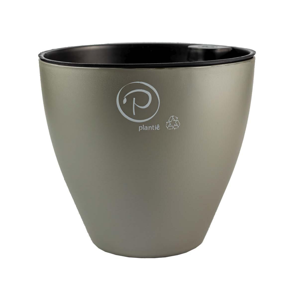 Vaso Auto Irrigável Plantiê - Ônix (cinza) Acetinado
