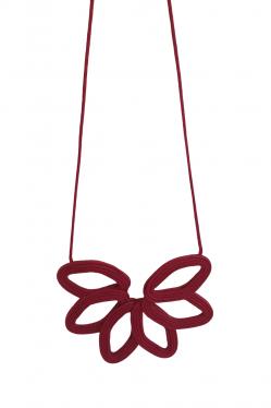 Colar 1449 Design Natural Vermelho