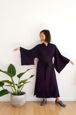 Vestido Kimono Mikie Preto