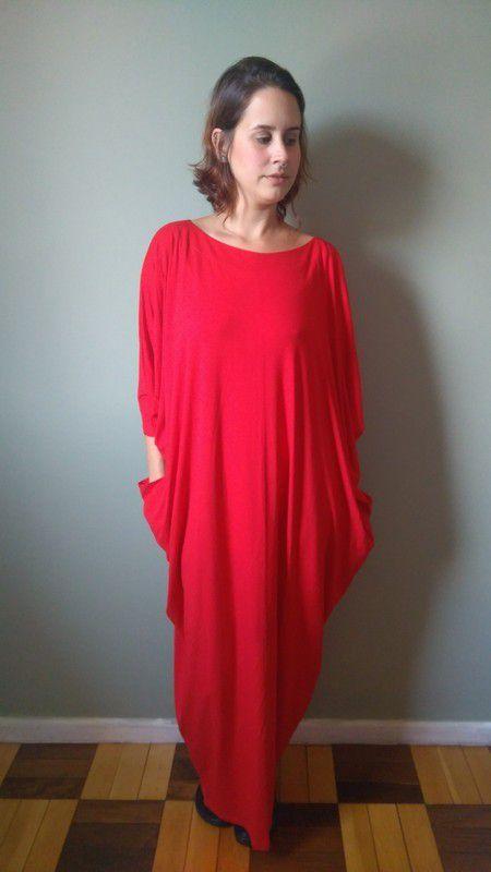 Vestido Lua Vermelho