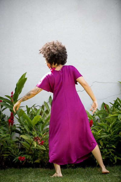 Vestido Vento Roxo Orquídea