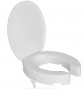 Assento Sanitário Elevado c/ Tampa e Trava 7cm - Branco - Astra