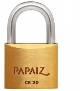 Cadeado CR20 KA1 (mesmo segredo) - 20mm - Papaiz
