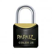 Cadeado CR25 Soft Touch - Preto - 25mm - Papaiz