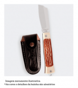 Canivete em Aço Inox e Cabo em Acetato com Bainha - 55/3 I C/B - Cimo