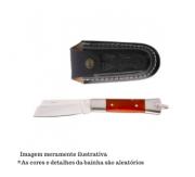 Canivete em Aço Inox e Cabo em Madeira com Bainha - 320/7 I M C/B - Cimo