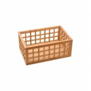 Cesto Vazado de Bambu Natural - 26cm - Oikos