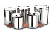 Conjunto de Potes para Mantimentos com tampa 5 Peças - Suprema - Brinox